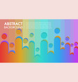 cool background colorful abstract poster vector image