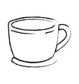 cup of coffee with handle monochrome blurred vector image vector image
