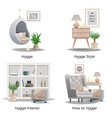 danish hygge style concept vector image