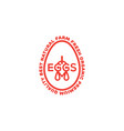 eggs logo vector image vector image