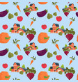 farmland house vegetables farming seamless pattern vector image vector image