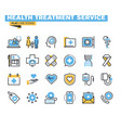 flat line colorful icons collection of healthcare vector image