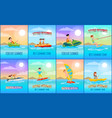 forever summer collection vector image vector image