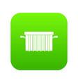garbage tank icon digital green vector image vector image