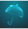 glass umbrella icon Eps10 vector image vector image