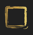 golden grunge vintage painted square shapes vector image vector image