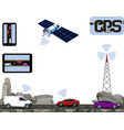 gps navigation road highways along the rocks vector image