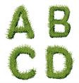 Green Grass Alphabet A B C D vector image vector image