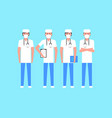 group doctors vector image