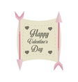 happy valentines day card arrows with banner vector image vector image