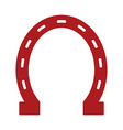 horse shoe icon vector image vector image