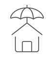 house protection thin line icon real estate vector image vector image