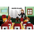 kids studying math in the classroom vector image vector image