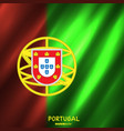 national portugal flag background vector image