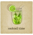 old background with cocktail vector image