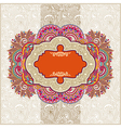ornamental vintage template vector image vector image