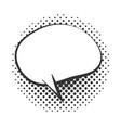 pop art speech bubble message halftone style vector image vector image