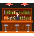 Pub Bar Restaurant Cafe Barkeeper Character Symbol vector image vector image