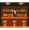 Pub Bar Restaurant Cafe Barkeeper Character Symbol vector image