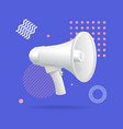 realistic detailed 3d megaphone advertising vector image
