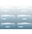 Rectangular transparent glass buttons vector image vector image