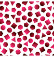 seamless geometric pattern with dark red squares vector image