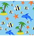 Seamless pattern with different marina creatures vector image vector image
