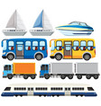 set of modern transportation vector image