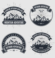 set of mountain adventure vintage labels badges vector image vector image