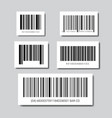 set of sample bar codes for scanning icon vector image