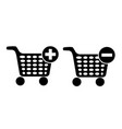 set of shopping chart icon vector image vector image