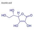 skeletal formula ascorbic acid drug chemical
