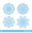 snowflake symbols christmas snow icons set vector image