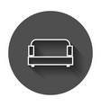 sofa sofa icon with long shadow vector image