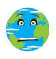 terrified earth emote vector image