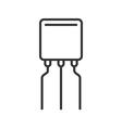 Transistor line icon vector image vector image