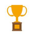 trophy flat vector image