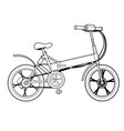 two wheeled electric bicycle ecology vehicle vector image