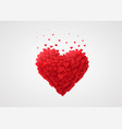 valentines red heart love concept vector image vector image