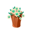Vase With Flowers Isometric Garden Landscaping vector image vector image
