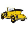 Vintage yellow cabriolet vector image vector image