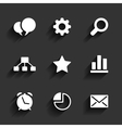 Web and Mobile icons vector image