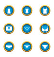 womanlike icons set flat style vector image vector image