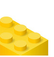 yellow plastic construction brick vector image