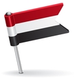 Yemen pin icon flag vector image vector image