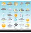 weather icons collection vector image