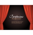 background with red curtain vector image