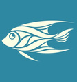 abstract fish logo vector image vector image