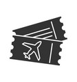 airplane tickets glyph icon vector image
