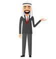 arab saudi businessman presents something vector image